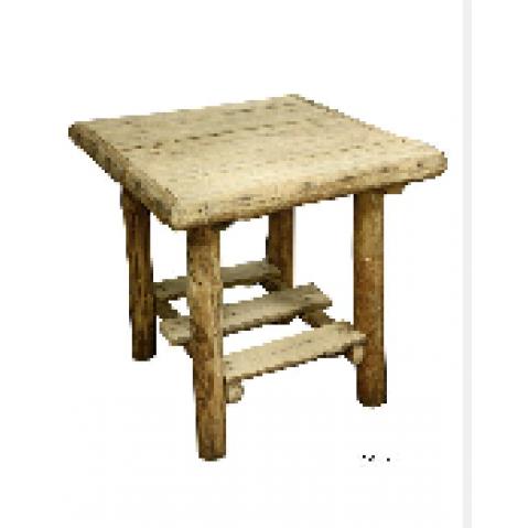 Table rondins CAHUTE en Teck flotté