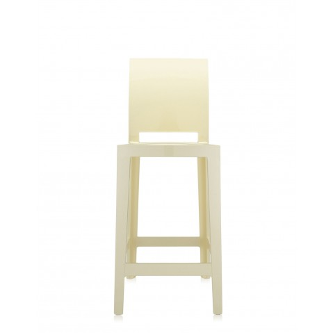 Tabouret ONE MORE PLEASE de Kartell, H. 75, Jaune