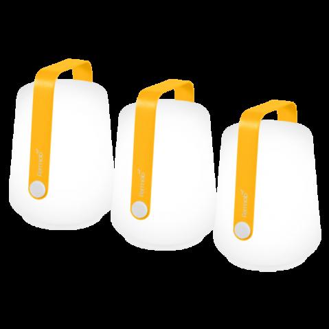 Lot de 3 lampes H.12 CM BALAD de Fermob, 6 coloris