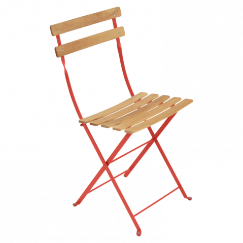 Chaise BISTRO NATUREL bois de Fermob, Capucine