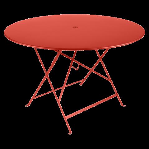 Table ronde pliante BISTRO de Fermob D.117 x H.74 cm Capucine