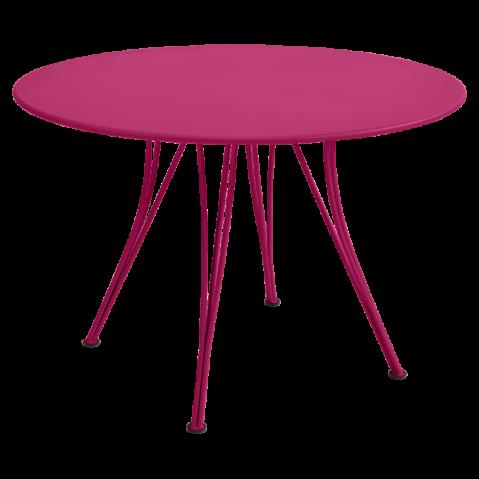 Table ronde RENDEZ-VOUS de Fermob fuchsia