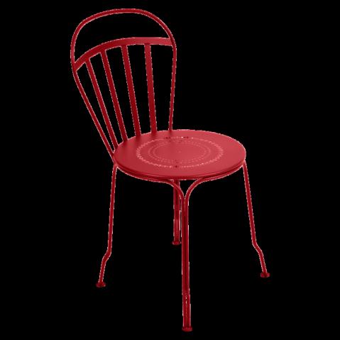 Chaise LOUVRE de Fermob coquelicot