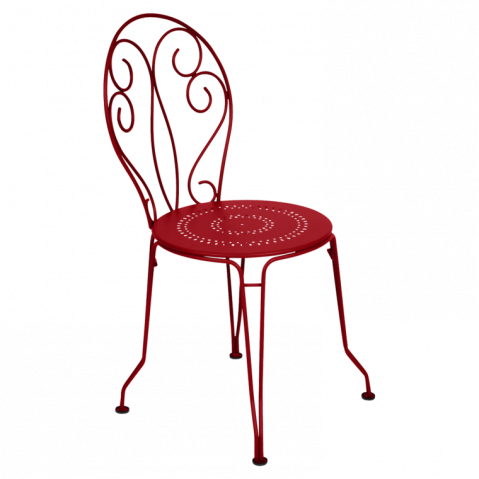 Chaise MONTMARTRE de Fermob coquelicot