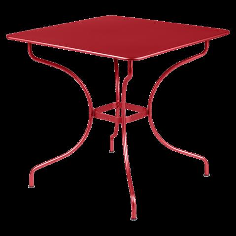 Table carrée OPÉRA de Fermob coquelicot