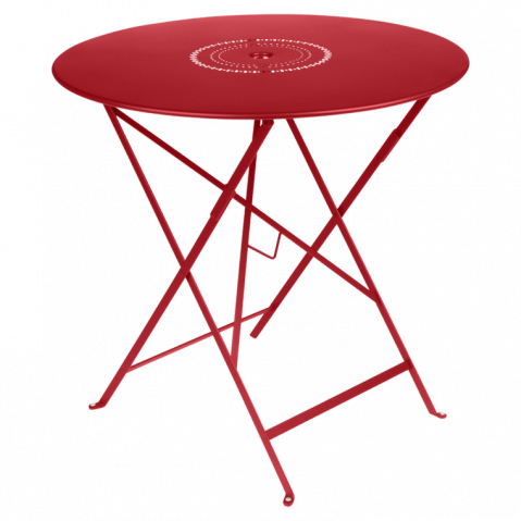 Table pliante FLORÉAL de Fermob D.77 coquelicot