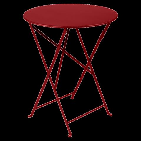 Table ronde pliante BISTRO de Fermob D.60 x H.74 cm Piment