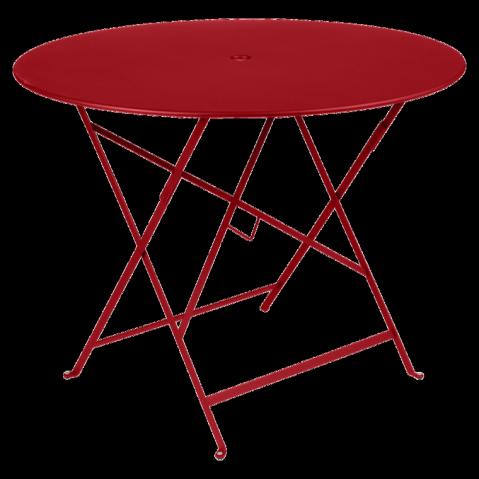 Table ronde pliante BISTRO de Fermob D.96 x H.74 cm Coquelicot