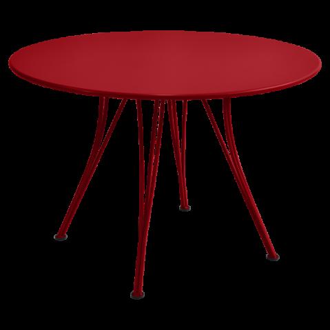 Table ronde RENDEZ-VOUS de Fermob coquelicot