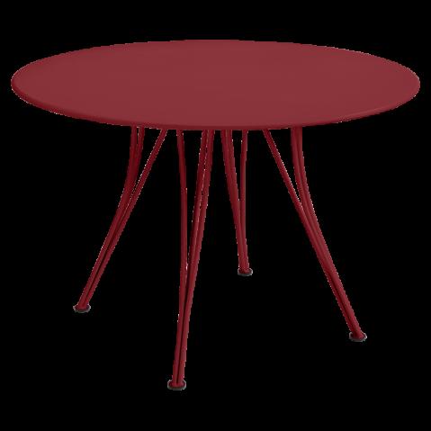 Table ronde RENDEZ-VOUS de Fermob piment
