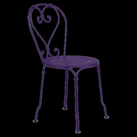 Chaise 1900 de Fermob, Aubergine