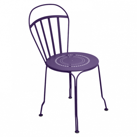 Chaise LOUVRE de Fermob aubergine