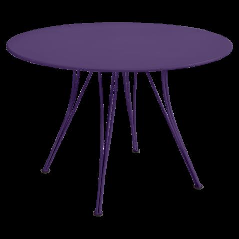 Table ronde RENDEZ-VOUS de Fermob aubergine