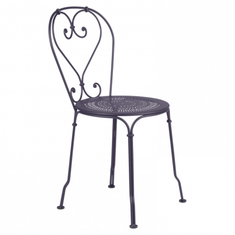 Chaise 1900 de fermob prune for Chaise prune