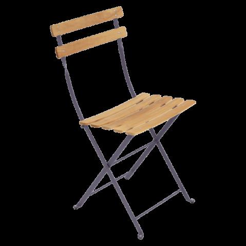 Chaise BISTRO NATUREL bois de Fermob, Prune