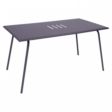 Table haute MONCEAU de Fermob, 146x80x74, Prune