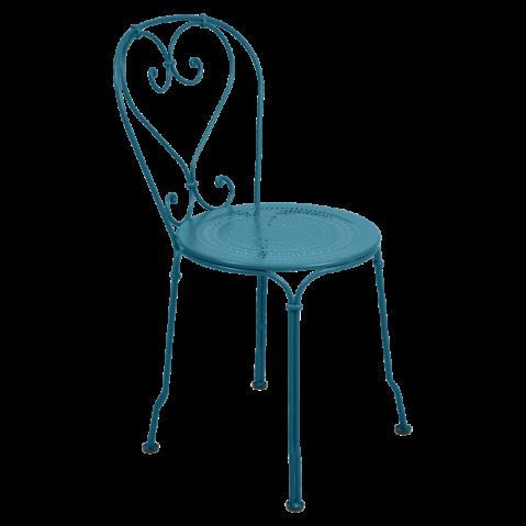 Chaise 1900 de Fermob, Bleu Turquoise