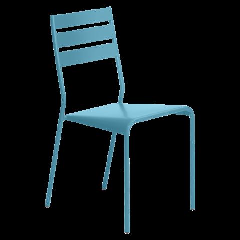 Chaise FACTO de Fermob bleu turquoise