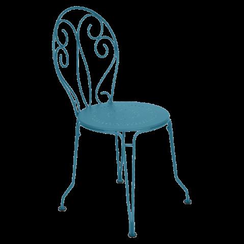 Chaise MONTMARTRE de Fermob bleu turquoise