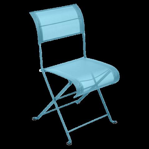 Chaise pliante DUNE de Fermob bleu turquoise