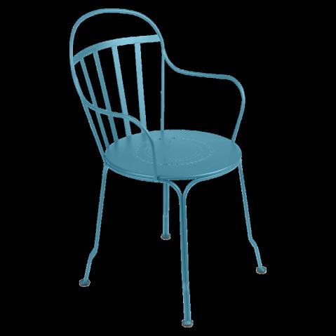 fauteuil louvre de fermob bleu turquoise. Black Bedroom Furniture Sets. Home Design Ideas