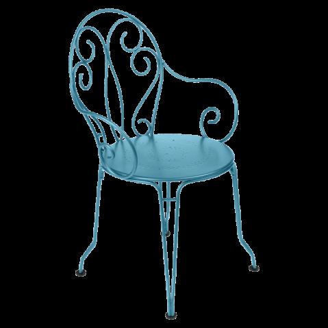 Fauteuil MONTMARTRE de Fermob bleu turquoise