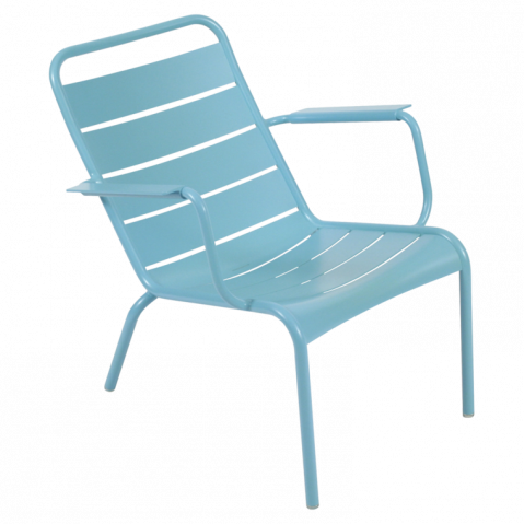 Lounger LUXEMBOURG de Fermob bleu turquoise