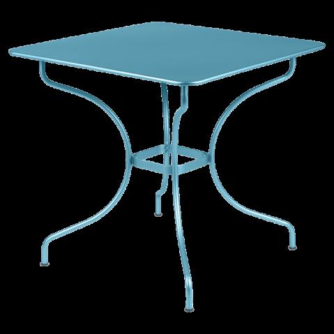 Table carrée OPÉRA de Fermob bleu turquoise