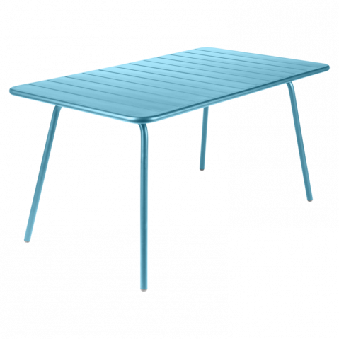 Table LUXEMBOURG de Fermob, Bleu Turquoise