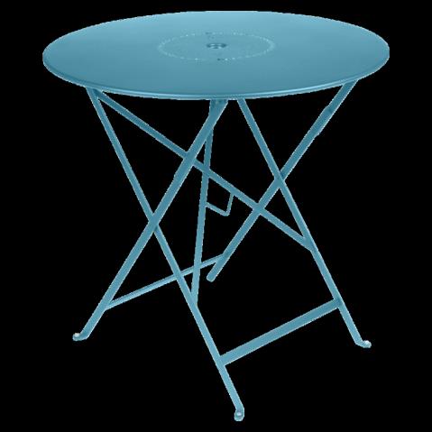 Table pliante FLORÉAL de Fermob D.77 bleu turquoise