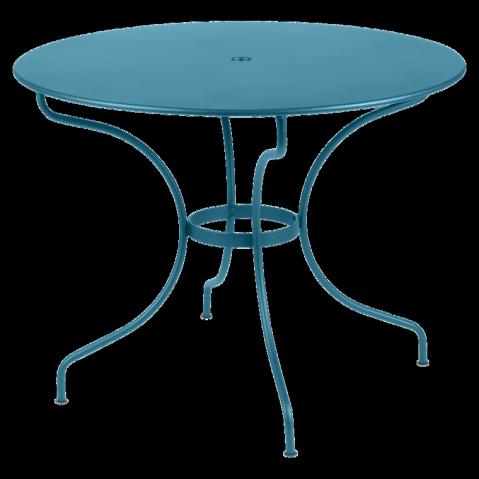 Table ronde OPÉRA D.96 de Fermob bleu turquoise