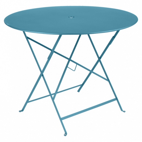 fermob table ronde pliante bistro de fermob x cm bleu turquoise. Black Bedroom Furniture Sets. Home Design Ideas