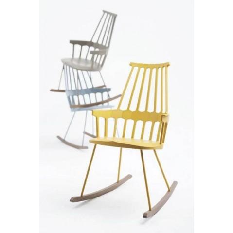 Chaise à bascule COMBACK de Kartell, Jaune chêne