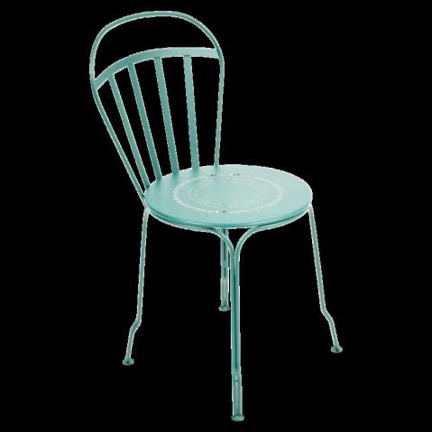 Chaise LOUVRE de Fermob Bleu lagune