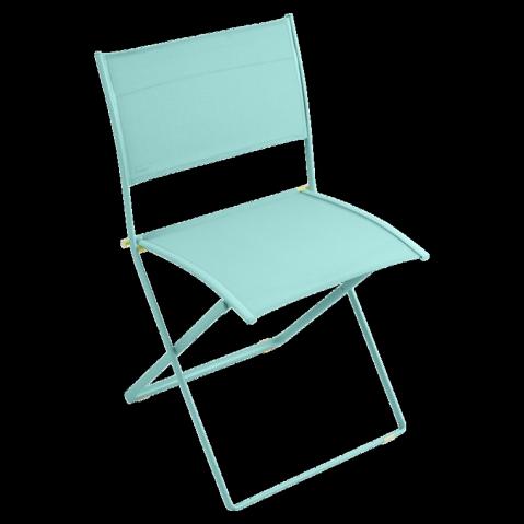 Chaise pliante PLEIN AIR de Fermob bleu lagune