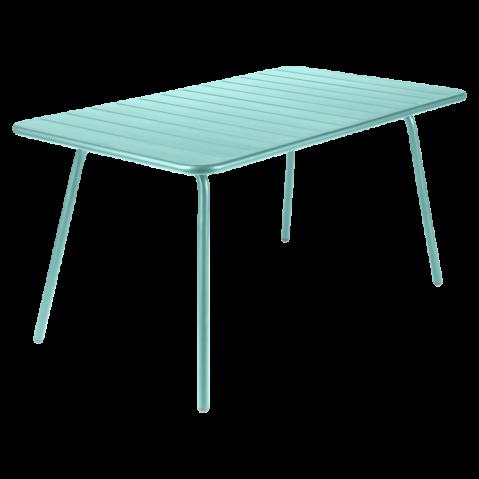 Table LUXEMBOURG pour 6 personnes de Fermob, Bleu Lagune