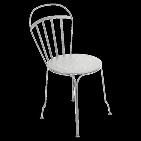 Chaise LOUVRE de Fermob gris métal