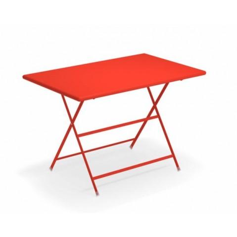 Table rectangulaire ARC EN CIEL de Emu 110 cm rouge écarlate