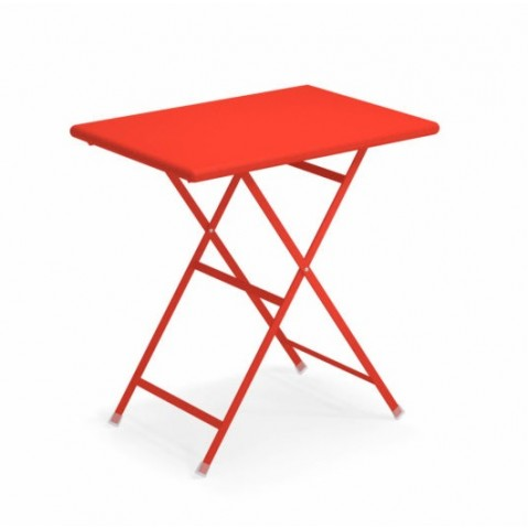 Table rectangulaire ARC EN CIEL de Emu 70 cm rouge écarlate