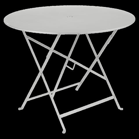 Table ronde pliante BISTRO de Fermob D.96 x H.74 cm Gris métal