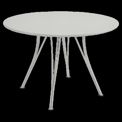 Table ronde RENDEZ-VOUS de Fermob gris métal