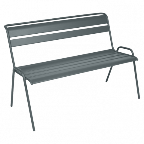 banc 2 3 places monceau de fermob gris orage. Black Bedroom Furniture Sets. Home Design Ideas