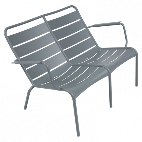 Lounger Duo LUXEMBOURG Fermob gris orage