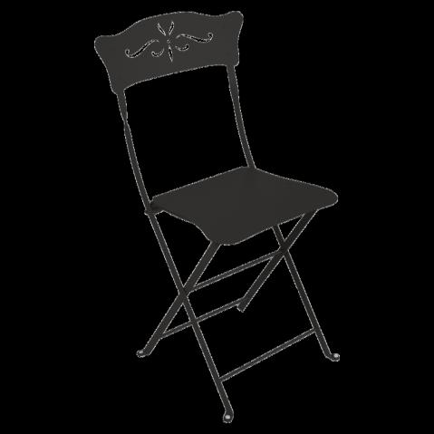 Chaise BAGATELLE de Fermob noir réglisse