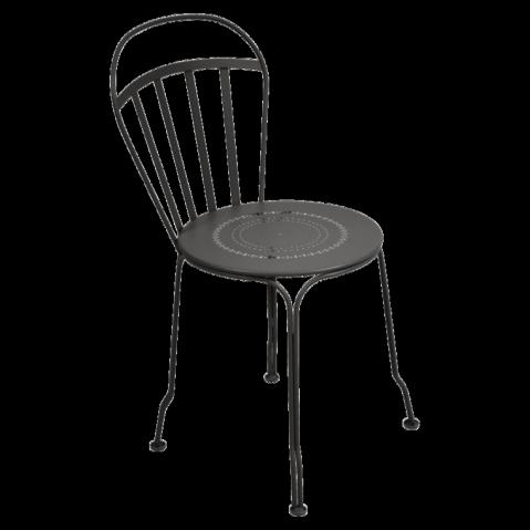 Chaise LOUVRE de Fermob noir réglisse