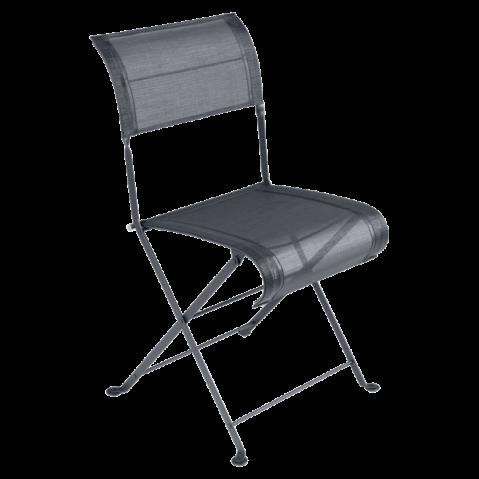 Chaise pliante DUNE de Fermob, Carbone