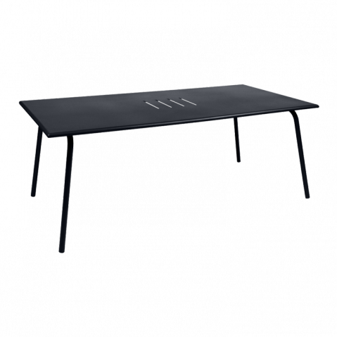Table haute MONCEAU de Fermob, 194x94x74, Carbone