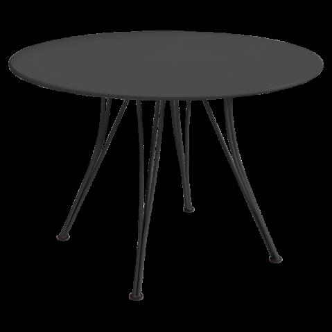 Table ronde RENDEZ-VOUS de Fermob noir réglisse
