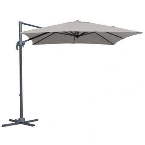parasol d port alberto en aluminium 250x250 gris clair. Black Bedroom Furniture Sets. Home Design Ideas