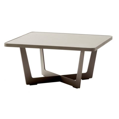 Table basse TIME OUT de Cane-line, grande, taupe